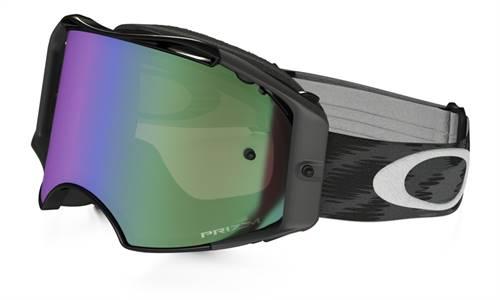 Masque marque Oakley Airbrake MX Jet noir écran Prizm MX Jade Iridium