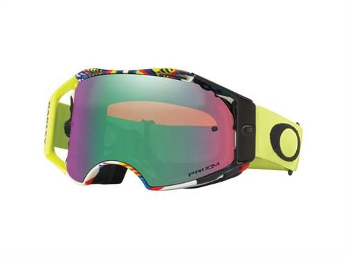 Masque marque Oakley Airbrake Valentino Rossi Signature écran Prizm MX Jade Iridium