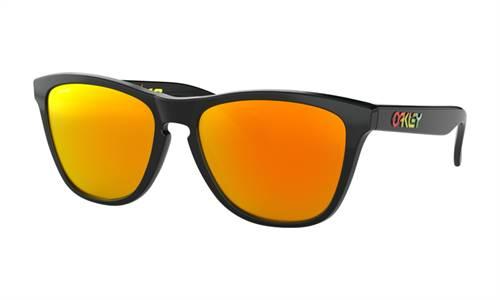 Lunettes de soleil marque Oakley Frogskins Valentino Rossi Signature Series Polish noir verres PRIZM Ruby